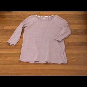 Boden Blush Linen 3/4 sleeve top shirt 8